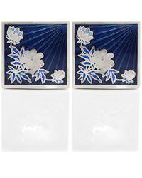 Duchamp | Blue Floral Sunrise Cufflinks for Men | Lyst