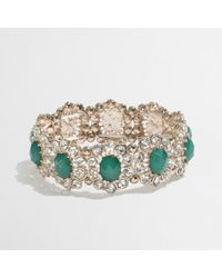 J.Crew | Metallic Factory Crystal Daisy Stretch Bracelet | Lyst