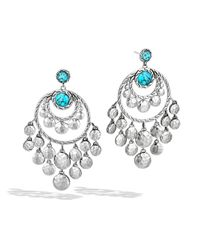 John Hardy | Blue Dot Chandelier Earrings | Lyst