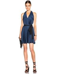 TOME | Blue Fwrd Exclusive Pleated Halter Dress | Lyst