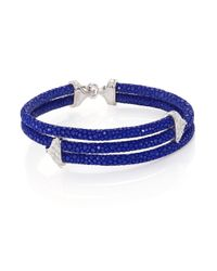 Stinghd | Blue Diamond, 18K White Gold & Stingray Triangle Wrap Bracelet for Men | Lyst