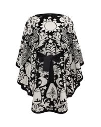Alexander McQueen - Black Felted Naive Pagan Jacquard Cape - Lyst