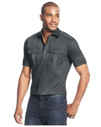 Sean John | Gray Big And Tall Twill Shirt for Men | Lyst