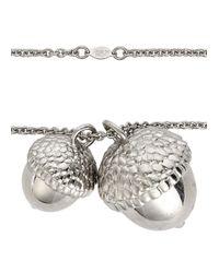 Alexander McQueen | Metallic Silver Tone Acorn Pendant Necklace | Lyst