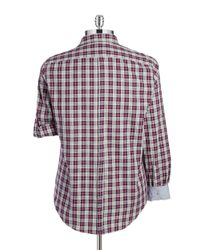 DKNY | Red Flannel Plaid Sportshirt for Men | Lyst