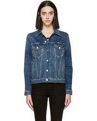 AMO - Blue Pop Denim Jacket - Lyst