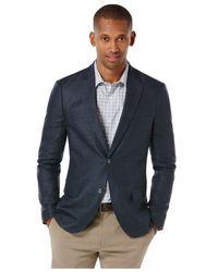 Perry Ellis - Blue Slim Hopsack Jacket for Men - Lyst