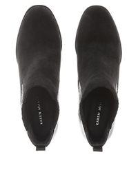 Karen Millen - Black Suede Leather Block Heel - Lyst