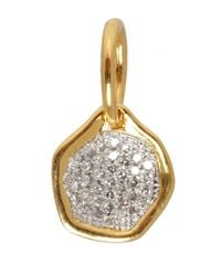 Monica Vinader | Metallic Mini Riva Gold Vermeil Diamond Pendant | Lyst