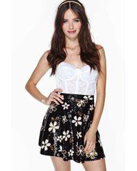 Nasty Gal - Black Disco Daisy Sequin Skirt - Lyst
