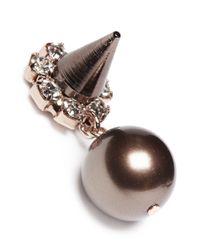 Joomi Lim | Black Spike Pearl Earrings | Lyst