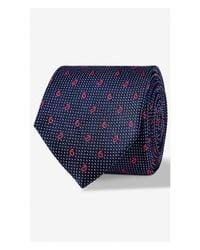 Express - Blue Paisley Micro Dot Narrow Silk Tie - Verde for Men - Lyst