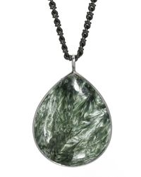 Elizabeth Showers | Metallic Seraphinite Teardrop Pendant Necklace | Lyst