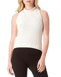 Sam Edelman | White Mila Cotton Crop Top | Lyst