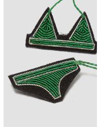 Macon & Lesquoy - Green Bikini Brooch - Lyst