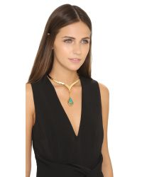 Vanessa Mooney - Blue Cherry Bomb Choker Necklace - Gold/turquoise - Lyst