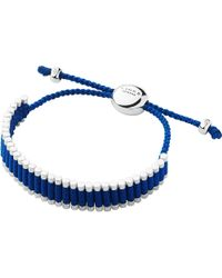 Links of London | Metallic Sterling Silver Friendship Bracelet In Blue | Lyst