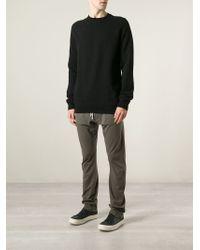 DRKSHDW by Rick Owens - Black Crew Neck Sweatshirt for Men - Lyst