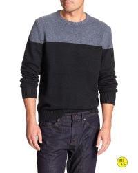 Banana Republic | Blue Factory Colorblock Pullover for Men | Lyst