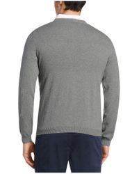 BOSS Green - Gray Knitted Sweater: 'c-carlton' for Men - Lyst