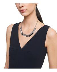 Tory Burch | Metallic Logo Charm Short Necklace | Lyst