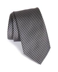 Brioni | Gray Check Silk Tie for Men | Lyst