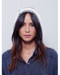 Free People - White Womens Printed Grizzly Beanie - Lyst