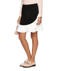 kate spade new york | Black Crepe Ruffle Skirt | Lyst