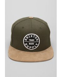 Lyst - Urban Outfitters Brixton Oath Iii Snapback Hat in Green for Men 25e3fdb8d0eb