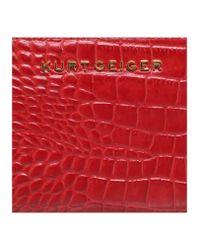 Kurt Geiger | Red Croc Zip Around Wallet | Lyst