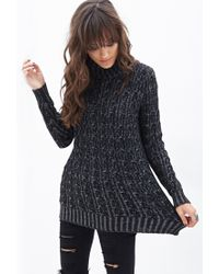 Forever 21 | Black Knit Turtle Neck Sweater | Lyst