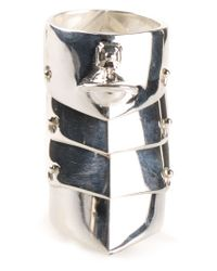 Vivienne Westwood - Metallic 'Armour' Ring - Lyst
