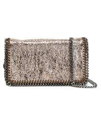 Stella McCartney | Metallic 'Falabella' Crossbody Bag | Lyst