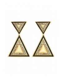 House of Harlow 1960 | Metallic Teepee Drop Earrings | Lyst