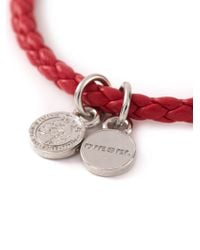 DIESEL | Red 'Altyse' Bracelet for Men | Lyst