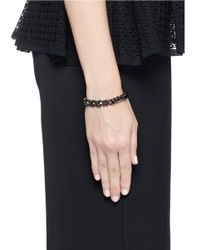 Iosselliani - Gray Asymmetric Marquise Cut Zircon Curb Chain Bracelet - Lyst