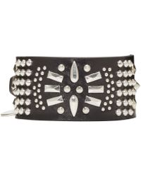 Alexander McQueen | Black Studded Bracelet for Men | Lyst