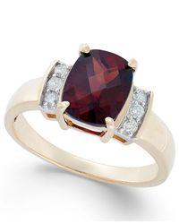 Macy's - Metallic Garnet (2-3/8 Ct. T.w.) And Diamond Accent Ring In 14k Gold - Lyst