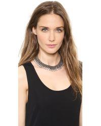 DANNIJO | Metallic Whistler Necklace Silverblack Diamondcrystal | Lyst