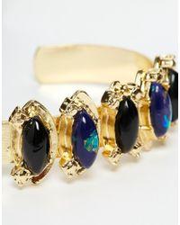 ASOS | Blue Treasures Open Cuff Bracelet | Lyst