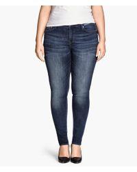 H&M - Blue + Skinny Jeans - Lyst