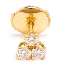 Yvonne Léon | Metallic Diamond 'trilogie' Stud Earring | Lyst