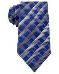 Geoffrey Beene   Blue Men's Office Chic Plaid Tie for Men   Lyst