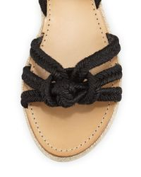 Isabel Marant - Black Camila Knotted-Rope Sandals - Lyst