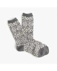 J.Crew | Metallic Fair Isle Trouser Socks | Lyst