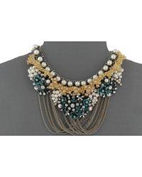 Betsey Johnson | Goldtone Multicolor Crystal Pendant Necklace | Lyst