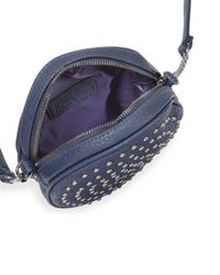 Neiman Marcus - Gray Studded Canteen Crossbody Bag - Lyst