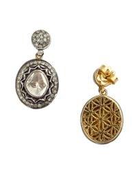 Amrapali - Metallic Natural Cut Diamond Drop Earrings - Lyst