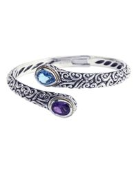 Lord & Taylor | Blue Balissima Sterling Silver With 18kt. Yellow Gold Multi Colored Bangle Bracelet | Lyst