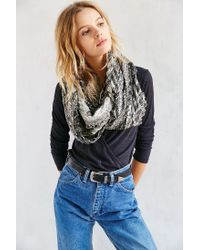 Urban Outfitters - Black Paisley Pleated Eternity Scarf - Lyst